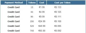 Bongacams costs
